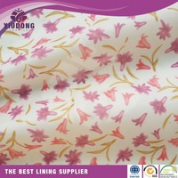 2016 New arrival woven 100% polyester chiffon printed lining fabric manufacturer