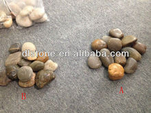 Mixed Color Polished Pebbles/cobble stone for Landscaping Paving