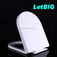 bidet plastic commode toilet seat cover square pp soft close toilet seat