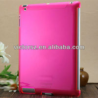 plain hard IMD clear crystal case for ipad 4/for ipad 3/for ipad 2