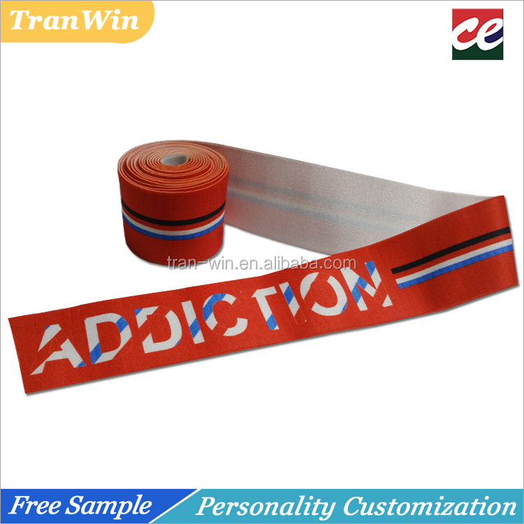 Custom heat transfer print elastic band for boxer brief shots
