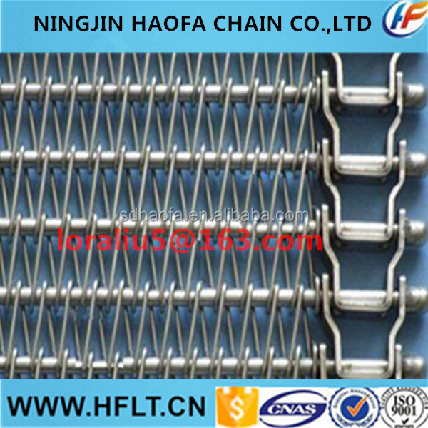 spiral cooling conveyor stainless steel belt