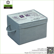 Custom Non-woven Fabric Portable Storage Box with Lid
