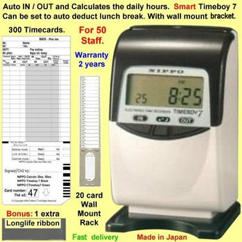 calculating time card