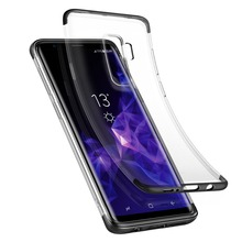 Baseus Luxury Soft TPU Transparent Cell Phone Armor Protection Case for Samsung Galaxy S9 Plus S9