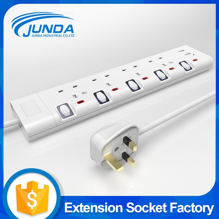 Wholesale us standard 4 outlets multi extension grounding socket plug with usb port