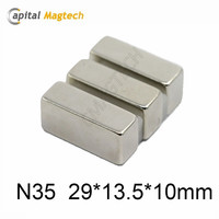 N35 29*13.5*10mm Block Permanent Ndfeb Magnet For Industry
