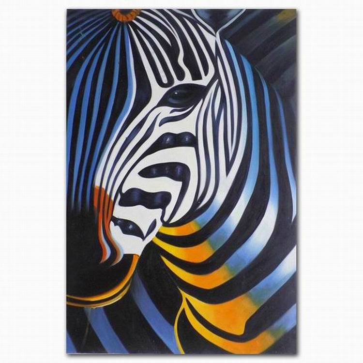 DEYI Abstract zebra canvas oil painting