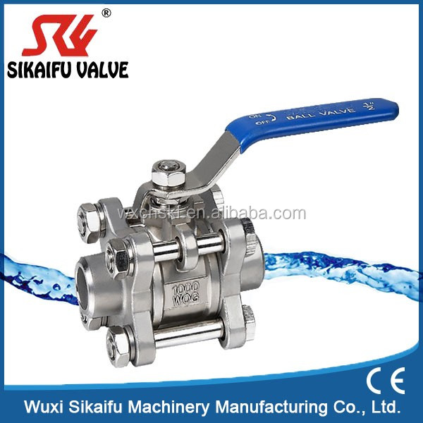 Cheap 3pc Stainless Steel Female Thread Ball Valve