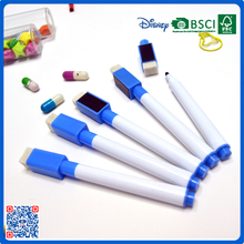 2016 free sample uv permanent white color marker pen with brush