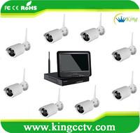 P2P Surveillance WIFI 8CH Wireless cctv camera NVR kit system