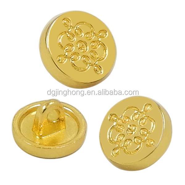 Customized Sew-on Gold Metal Button