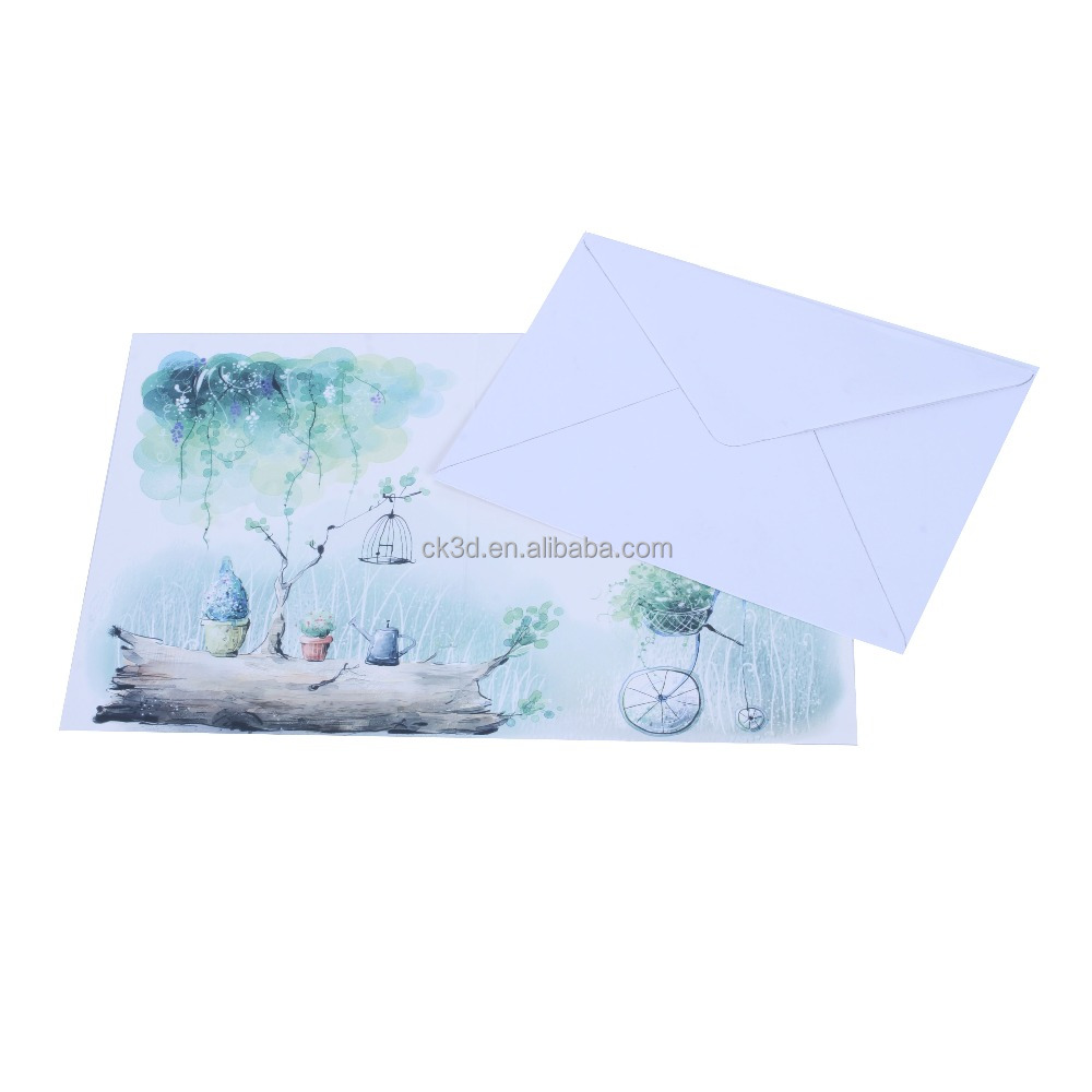 2016 Merry Christmas 3D Lenticular Printing Greeting Cards wholesale greeting cards