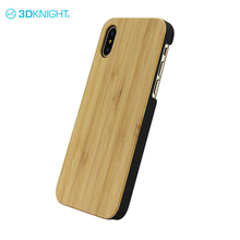 Natural bamboo + black pc to sublimate mobile phone cover cases for apple iphone X of hard case