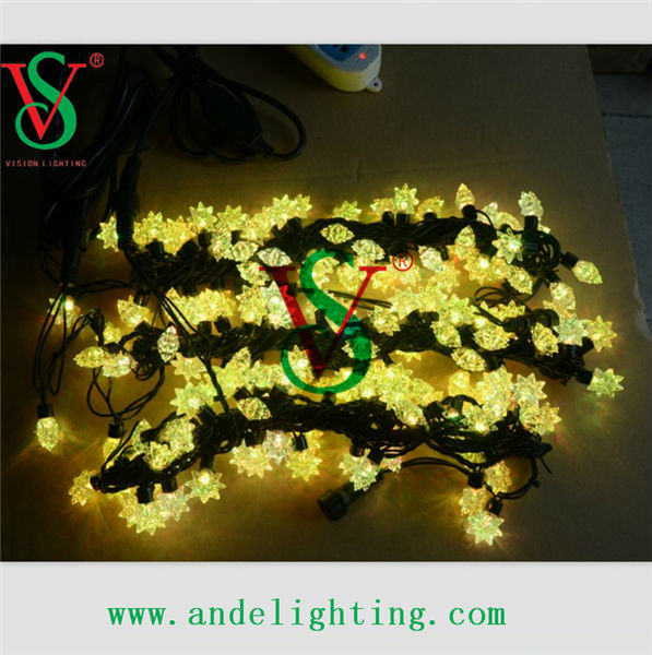 Yellow fairy outdoor decoration holiday LED star string light