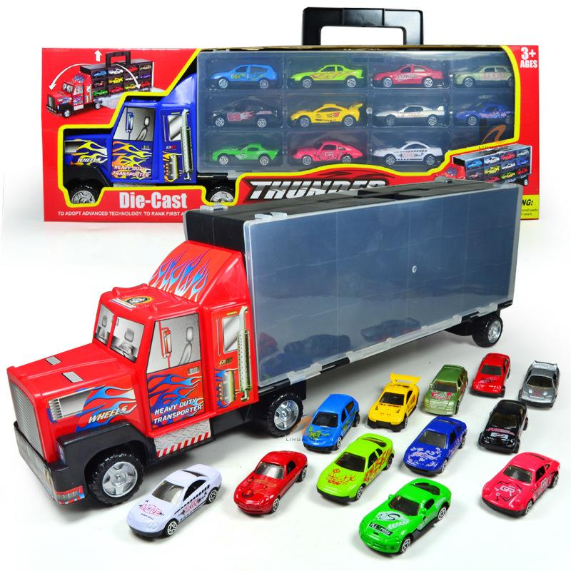 Funny trucks trailer toys diecast car toys