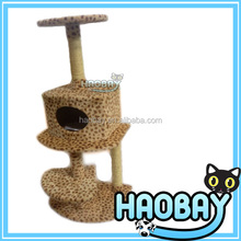 Personalized cat tree with plush and sisal material