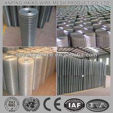 Factory hot sale standard welded wire mesh size ( ISO & CE )