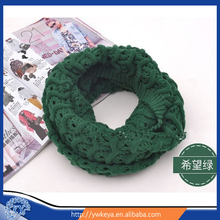 2015 Hollow Design 7-Color Forever Scarf Thick Knitted Solid Infinity Loop Scarf