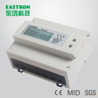 SDM530D 2T Double Tariffs Three Phase Din Rail Energy Meter,Seven Module kWh meter,CE Approved