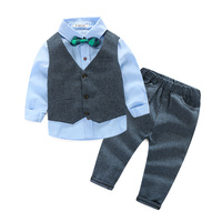 2016 China material new style toddler garment brand fashion high quality boys clothing sets
