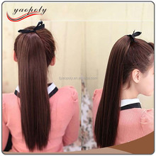 Natural Color 24inch Long 110g Synthetic Ponytail kids Pony Tail Hair Extension