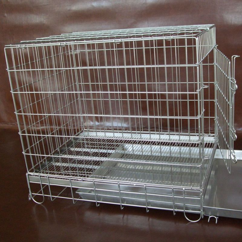 Wire mesh animal cages