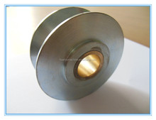 Aluminum V-belt pulley for wire and cable machine