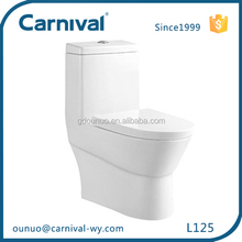 China ceramic siphonic Single hole wc toilet L125