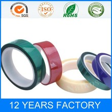 colorful Polyester High temperature masking tape coated with silicone adhesive for spraying
