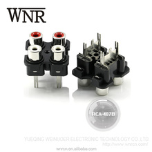 Best price WNRE audio & video female 4 position RCA-407B RCA connector jack