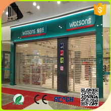 China Shutter Manufacturers/security shop front polycarbonate rolling shutter