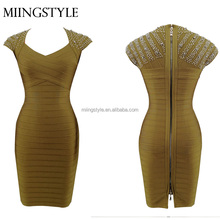 wholesale fashion design summer club party women bandage party evening dress