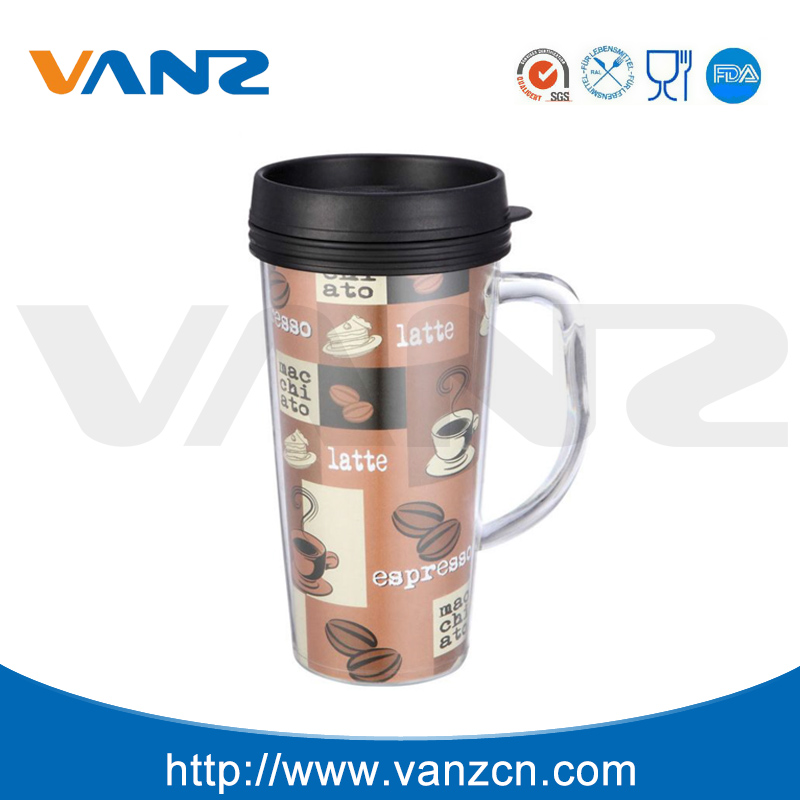 Cheap plain white coffee cup paper insert travel mug photo insert coffee mug