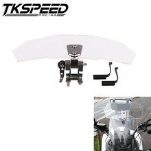 Universal Motorcycle Windshield Airflow Adjustable front Windscreen Wind Deflector for fit Kawasaki BMW Ducati honda KTM