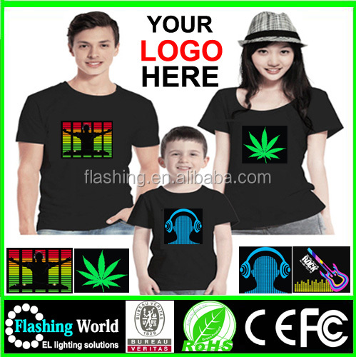 High quality led t shirt softextile,LED LIGHTING UP TSHIRT