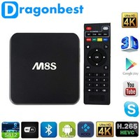 fabrica de tv cajas 2 G / 8 G M8S Android TV Box Dual band wifi Android 4.4 Amlogic S812 4 K XBMC Smart TV Box