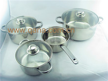 New design Wide Edge Stainless Steel 7Pc Cookware Set