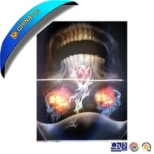 2017 new helloween 3d lenticular wall poster printing