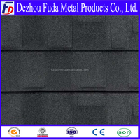 supply South soudan market shingle flat stone coated steel roof tiles