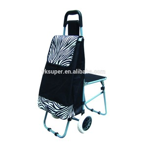 6 Wheels kids travel shopping trolley bag with chair seat