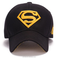 6 panel embroidery super-man superman hero 3D logo baseball sport caps golf hats for men women unisex