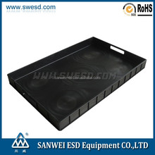 Antistatic black ESD tray for electronic components storage / PCB
