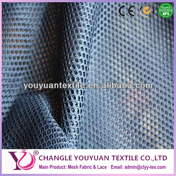 Sportswear summer wear lining Knitted dyed mesh fabric