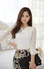 New modern ladies shirt design latest see-through blouse shirt designs for women