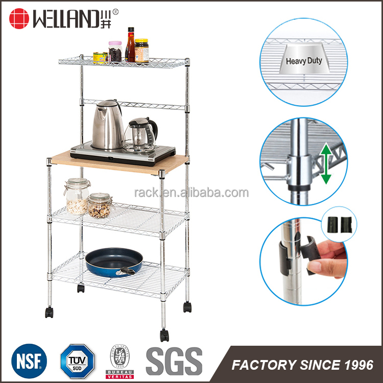 Adjustable Household Metal Kitchen Microwave Oven Stand With 15 Years Manufacturer