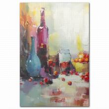 famous abstract large wall canvas wine bottle art fruit oil paintings