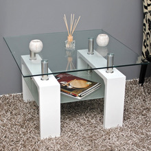 wooden tables and modern glass modern coffee table