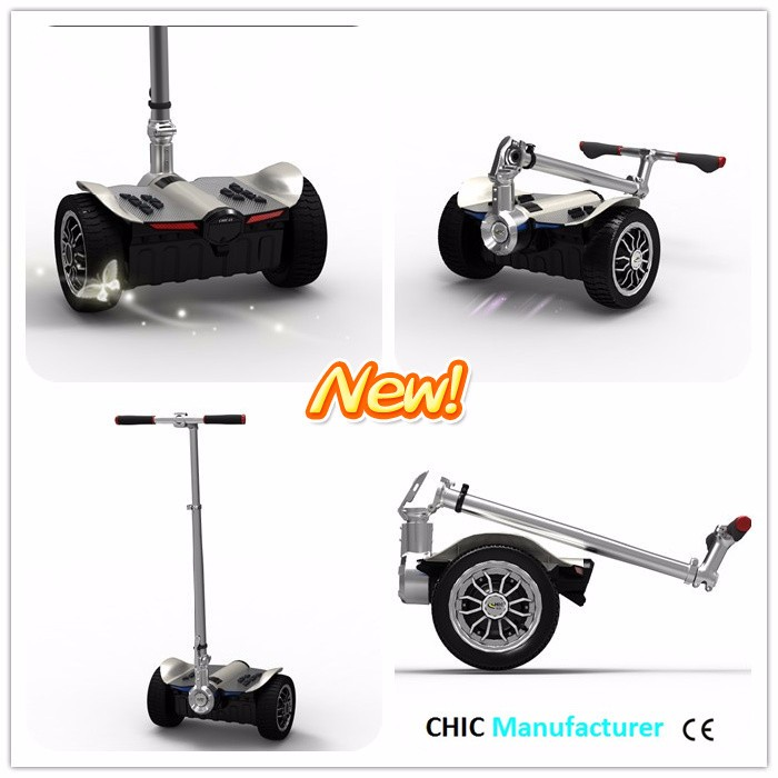 IO CHIC 9 inch CE ROHS FCC C-TICK scooter with folding