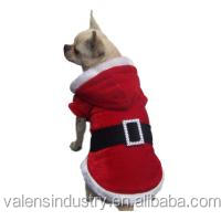 Hot Best selling Fur Santa Claus Christmas Dog Costume Ornament